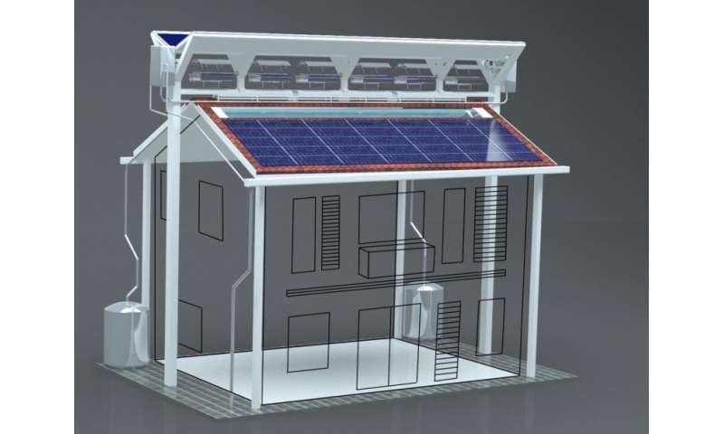 Hybrid 'eco-roof' design combines five existing energy-saving technologies into a single system