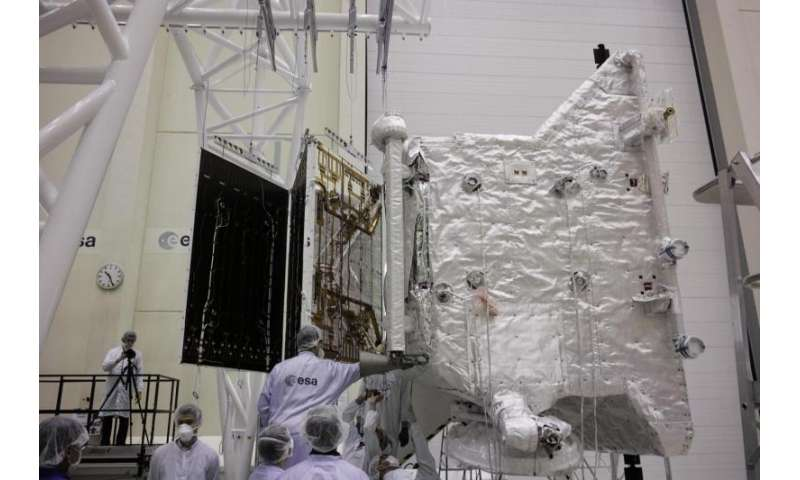 Image: BepiColombo solar wing deployment test