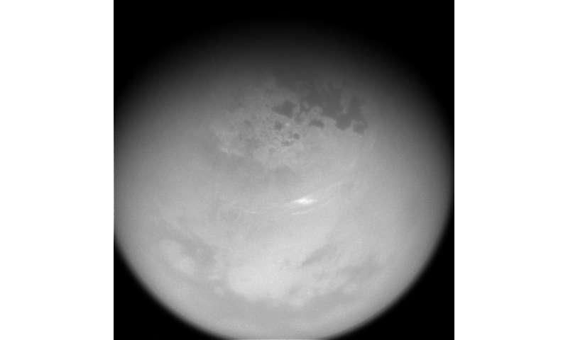 Image: Cloud activity returns to Titan's northern latitudes