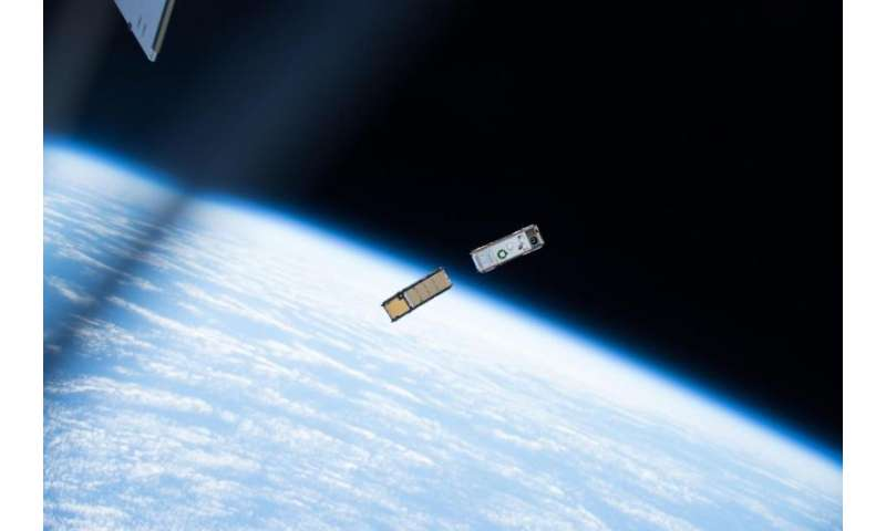 Image: CubeSats deployed outside station's Kibo lab module