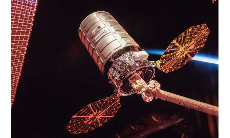 Image: Cygnus cargo spacecraft at sunrise