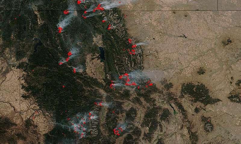 Image: Idaho battling huge wildfires