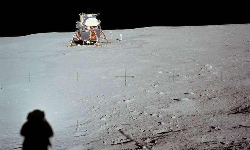 Image: Lunar module at Tranquility Base