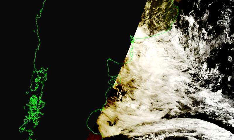 Image: NASA satellite spots moon's shadow over Patagonia