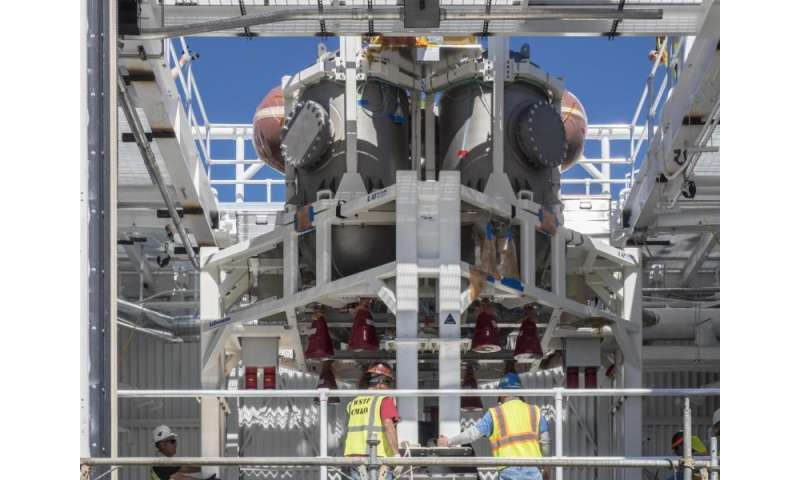 Image: Orion spacecraft progresses with installation of module to test propulsion systems