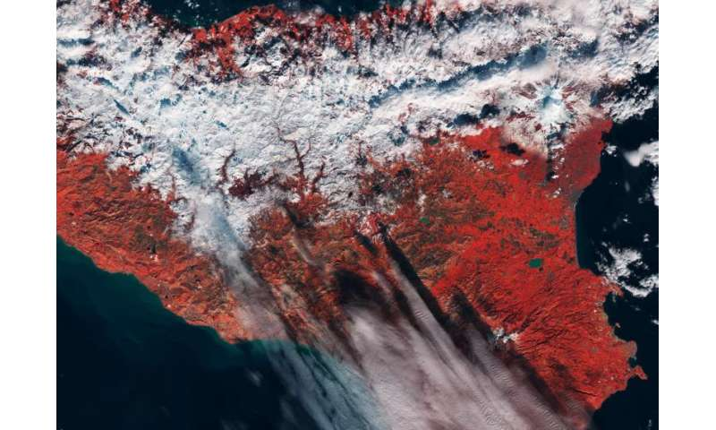 Image: Sicily captured by the Sentinel-2A satellite
