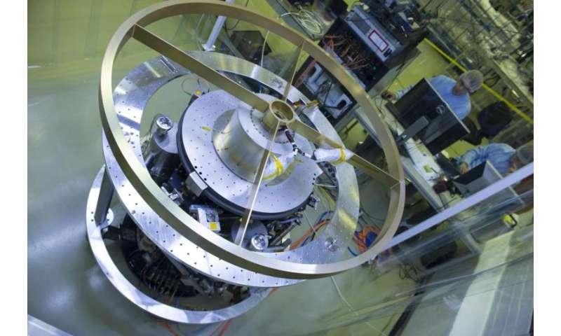 Image: Solar array drive mechanism on microvibration unit