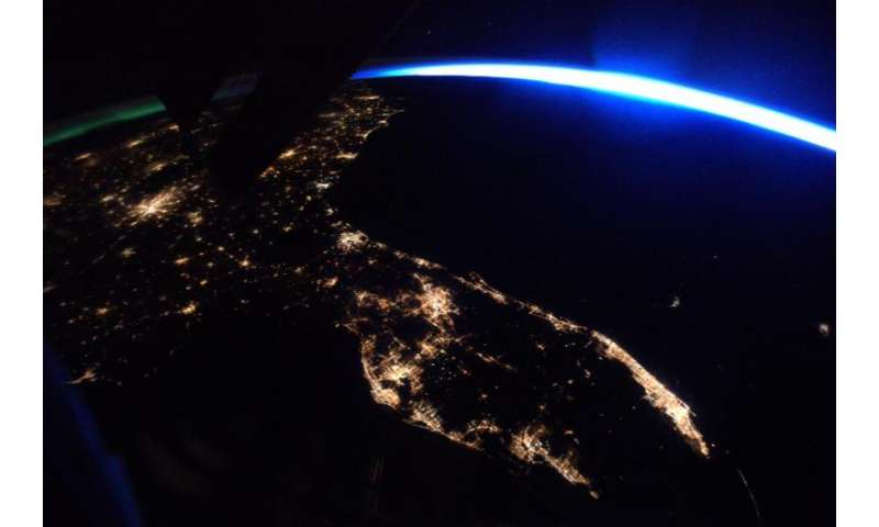 Image: Space station's view of Florida at night