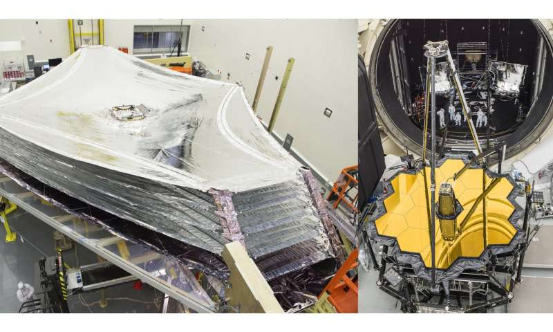 "Image: Webb Telescope's ""silver and gold decorations"""