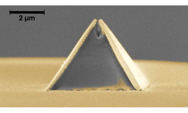 Imaging probe printed onto tip of optical fiber