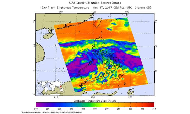 Infrared NASA imagery shows development of Tropical Depression 31W