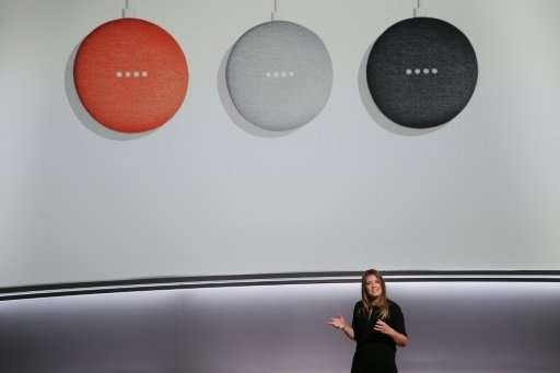 Isabelle Olsson, lead designer for home hardware for Google, , introduces the new Google Home Mini