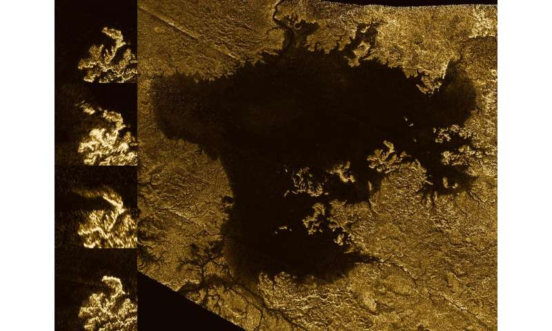 Islands on Titan may actually be bubble streams