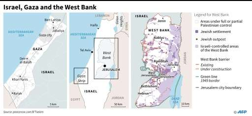 Israel, Gaza and the West Bank
