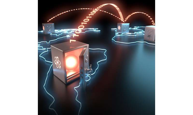 Long-lived storage of a photonic qubit for worldwide teleportation