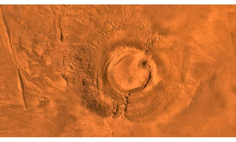 Mars volcano, Earth's dinosaurs went extinct about the same time