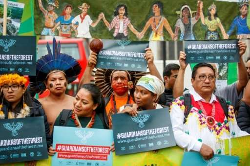 Members of a delegation of indigenous and rural community leaders from 14 countries in Latin America and Indonesia, The Guardian