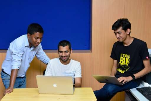 "Most ""ethical hackers""—like Anand Prakash (C), Shashank (R) and Rohit Raj (L) seen here—are software engineers swellin"