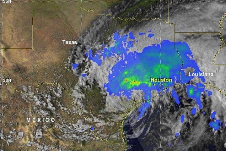 NASA calculates Tropical Storm Harvey's flooding rainfall