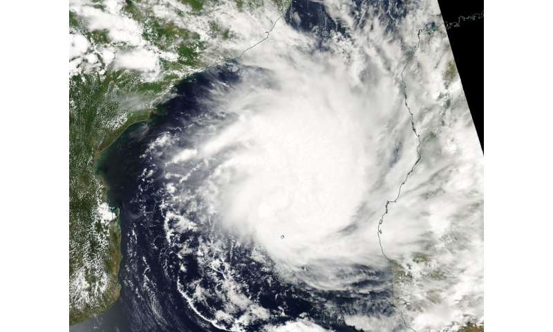 NASA catches formation of Tropical Cyclone Dineo