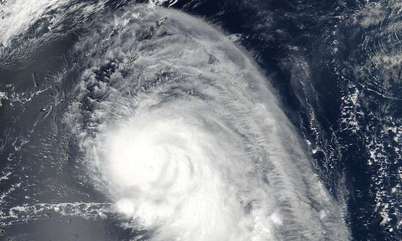 NASA finds a tail on Typhoon Talim