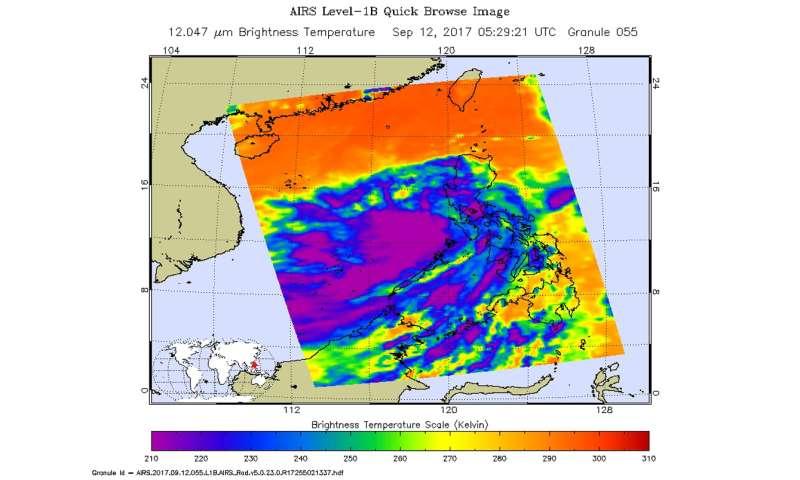 NASA gets infrared look at Tropical Depression 21W
