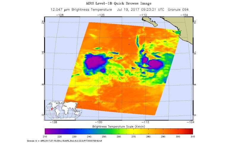 NASA imagery shows disorganized Tropical Depression 8E