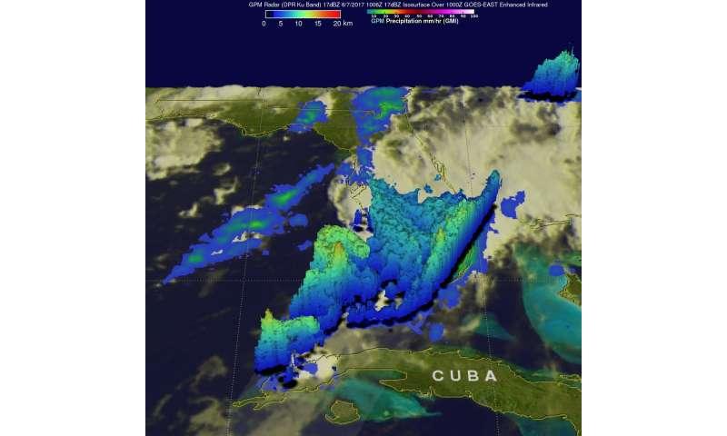 NASA looks at extreme Florida rainfall by satellite