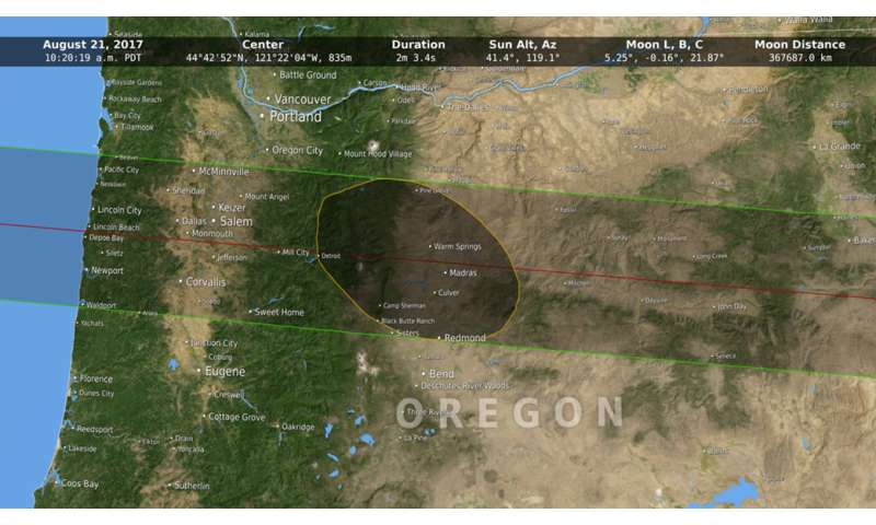 NASA moon data provides more accurate 2017 eclipse path