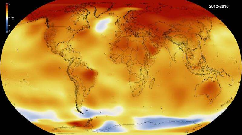 NASA, NOAA data show 2016 warmest year on record globally