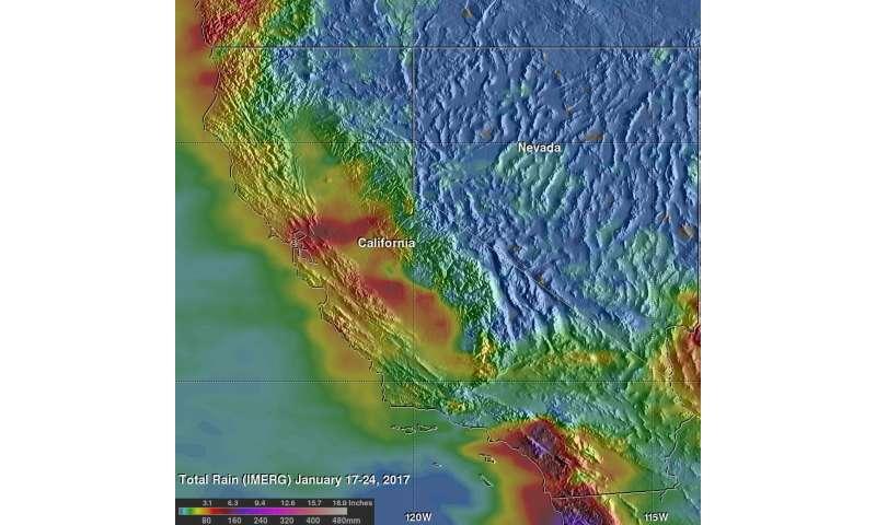 Nasa Observes Extreme Rainfall Over Southern California