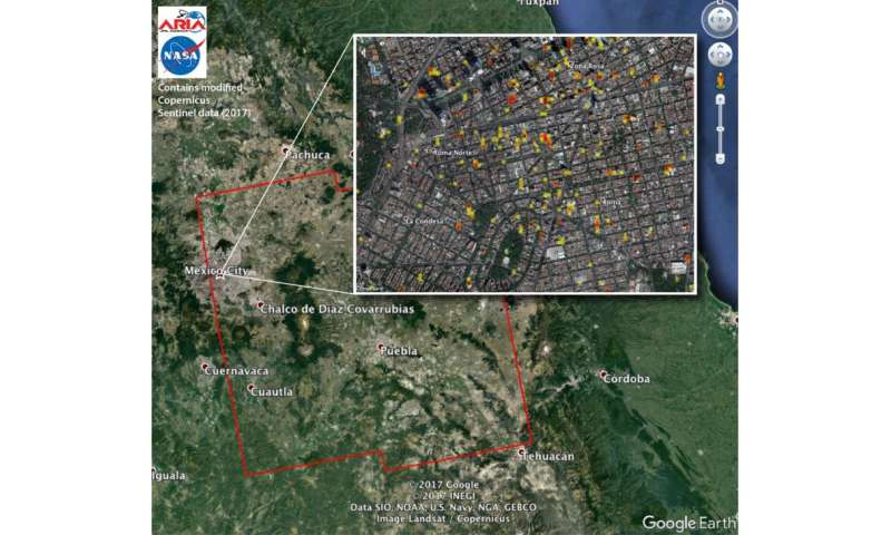 NASA-produced damage maps may aid Mexico quake response