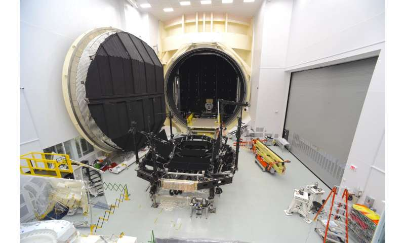 NASA's Apollo-era test chamber now James Webb Space Telescope ready