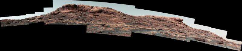 NASA's Curiosity Mars rover climbing toward ridge top