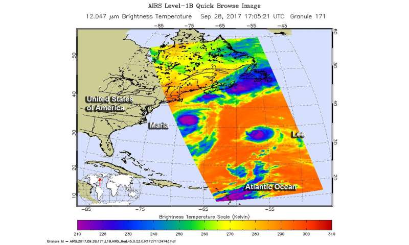 NASA sees a weaker Hurricane Lee headed to the UK