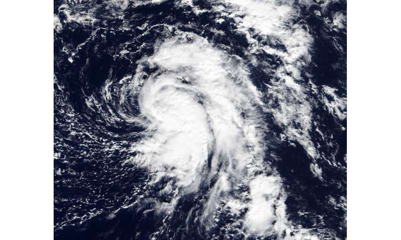NASA sees late season Atlantic Tropical Depression form