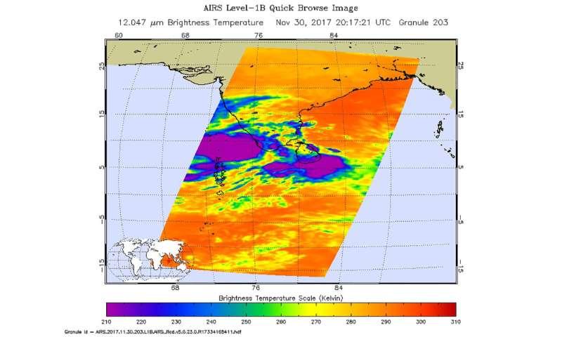 NASA sees Ockhi strengthening off southwestern coast of India