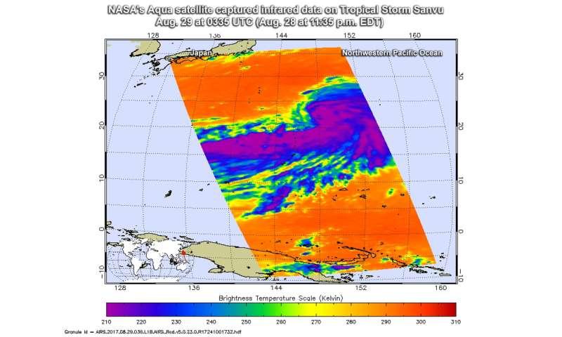 NASA sees Sanvu strengthen to a tropical storm