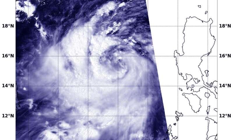 NASA sees spiraling bands of storms wrap into Tropical Cyclone Doksuri