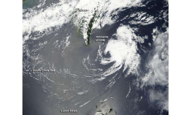 NASA sees the end of ex-Tropical Cyclone 02W