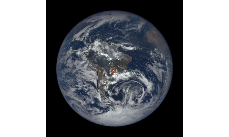 NASA's EPIC view spots flashes on Earth