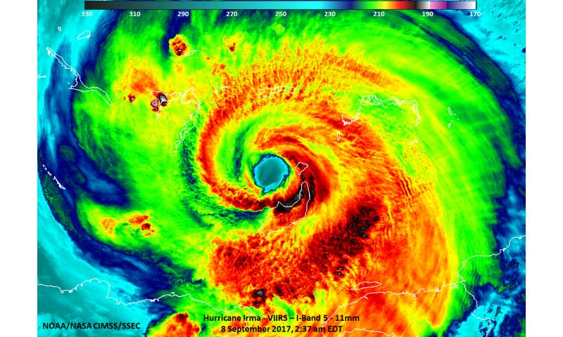 NASA's fleet of satellites covering powerful Hurricane Irma
