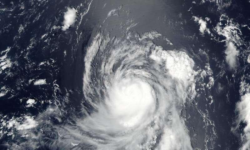 NASA spots Typhoon Banyan's large eye