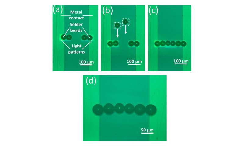 New approach uses light instead of robots to assemble electronic components
