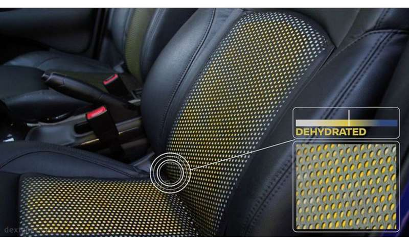 Nissan highlights how coating on wheel and seats can signal dehydration