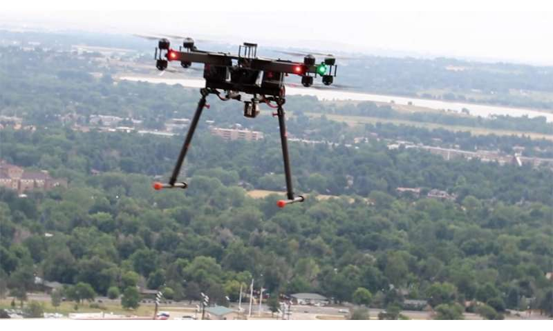 NIST/CU team launches 'comb and copter' system to map atmospheric gases