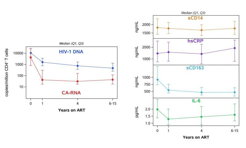 No link found between HIV levels and immune activation during antiretroviral treatment