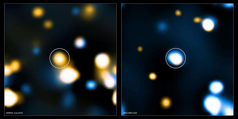 Obscured supermassive black holes in galaxies