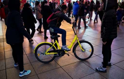 Ofo, which launched in 2015 as a Peking University student project, claims 10 million users for its one million bright-yellow bi