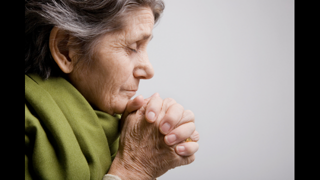 Older people who feel close to God have well-being that grows with frequent prayer